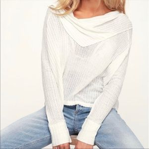 NWT Free People Wildcat Thermal Ivory Size XS